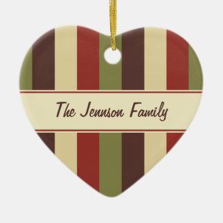Family Photo Heart Custom Text Christmas Ornament
