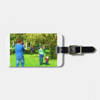 Family Photo in the Park1 Bag Tag