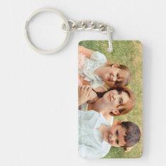 Family Photo Keepsake Keychain at Zazzle