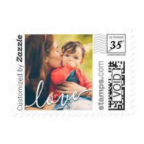 Family Photo Love Script PhotoStamp by Stamps.com