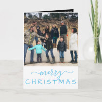 Family Photo Merry Christmas Letter HOLIDAY CARD