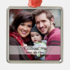 Family Photo Ornaments at Zazzle