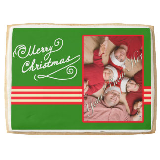 Family Photo Personalized Christmas Cookie