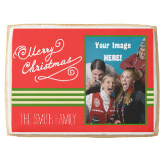 Family Photo Personalized Christmas Cookie Card