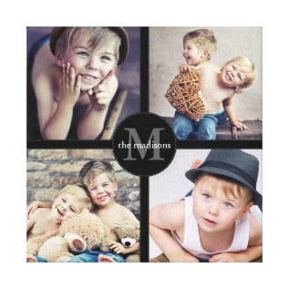 Family Photo Personalized Collage Canvas Print at Zazzle
