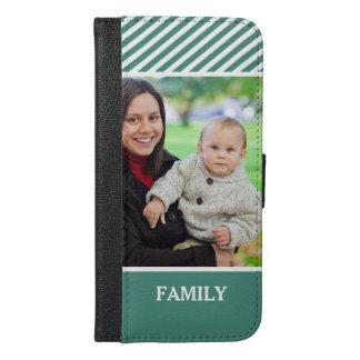 Family Photo Personalized - Stylish Green Stripes