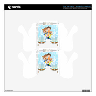 Family photo PS3 controller decal