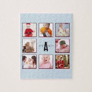 Family PHOTO Puzzle 9 pics Personalized Monogram