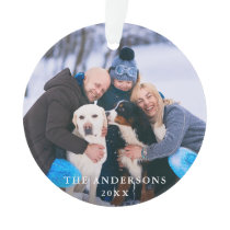 Family Photo Round Ornament