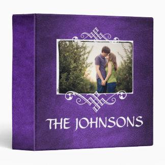 Family Photo Scrapbook Album•Purple Binder