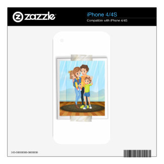 Family photo skins for the iPhone 4