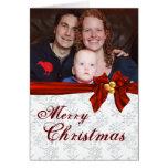 Family Photo Snowflake Christmas Card