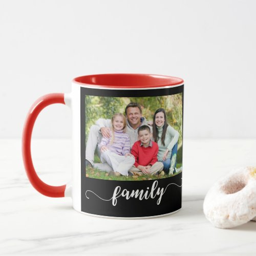 Family Photo Template Photo Mugs