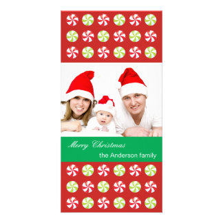 Family Photo with Christmas Candies Card
