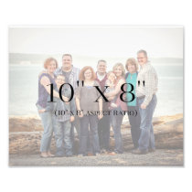 Family Photos 10x8 TEMPLATE Photo Print
