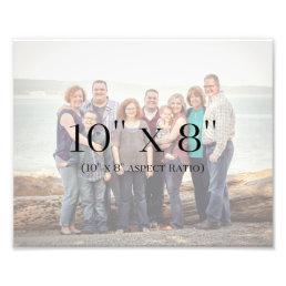 Family Photos 10x8 TEMPLATE Photo Print