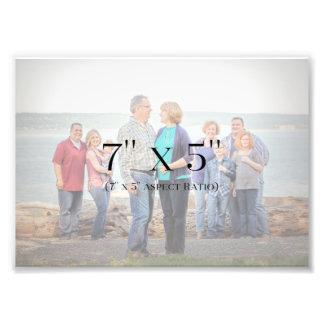 Family Photos 7x5 TEMPLATE Photo Print