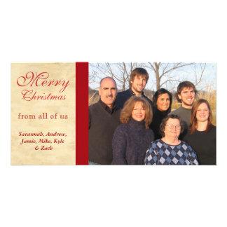 Family Photos  Merry Christmas Parchment Card