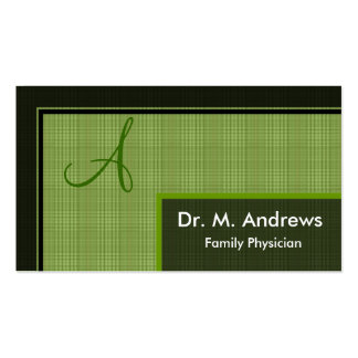 Family Physician Business Card - Monogram