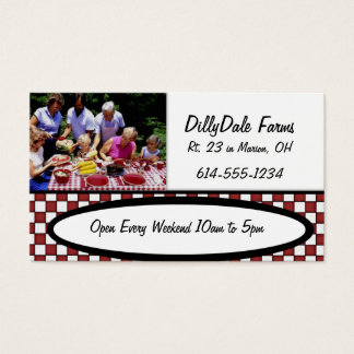 Family Picnic Food Farm BBQ Park Business Card