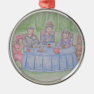 Family Picnic Metal Ornament