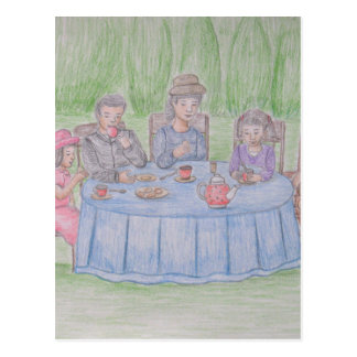 Family Picnic Postcard