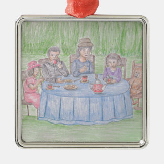 Family Picnicn Metal Ornament