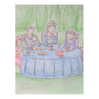 Family Picnicn Postcard