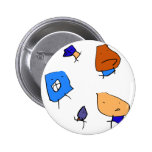 Family Picture Pinback Buttons