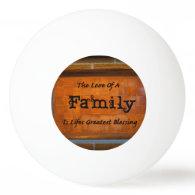 Family Ping Pong Ball