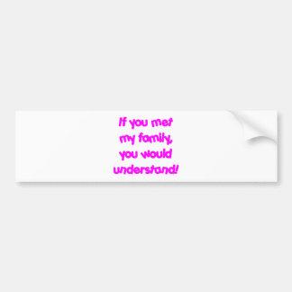 family_pink bumper sticker