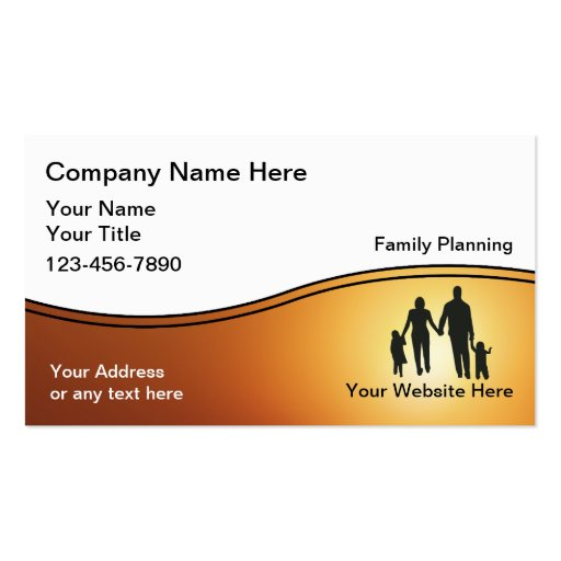 family planner business cards zazzle