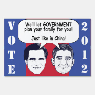 Family Planning Lawn Sign
