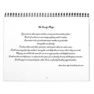 Family Pledge Calendar