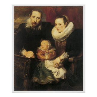 Family Portrait, 1621 Anthony Van Dyck Poster