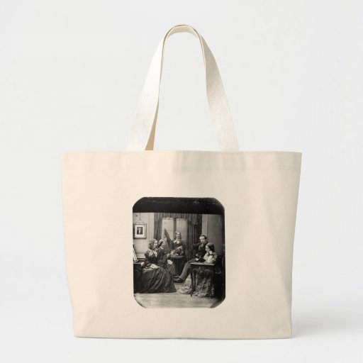Family Portrait  ~ 1852 Canvas Bags