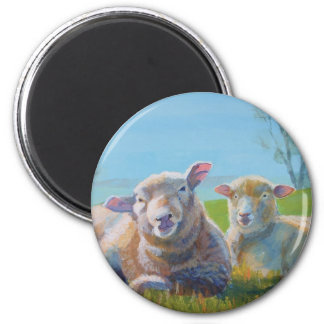 Family Portrait 2 Inch Round Magnet