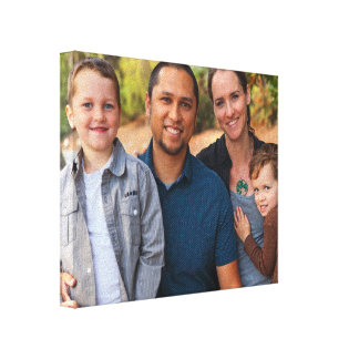 Family Portrait 8x10 Landscape Orientation Photo Canvas Print
