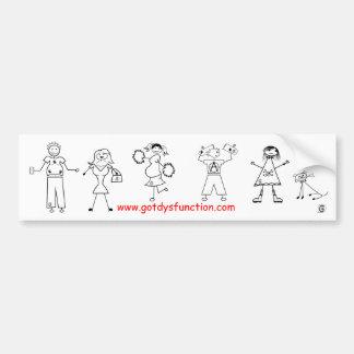 Family Portrait bumper sticker Car Bumper Sticker