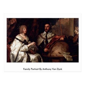 Family Portrait By Anthony Van Dyck Postcard