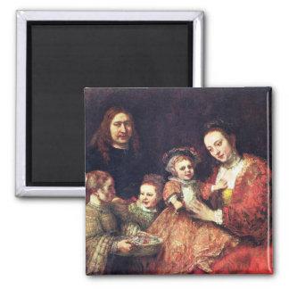 Family Portrait by Rembrandt Harmenszoon van Rijn Magnet
