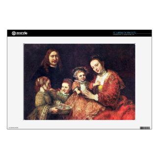 Family Portrait by Rembrandt Harmenszoon van Rijn Skin For Laptop