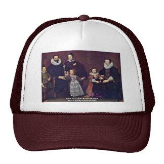 Family Portrait By Vos Cornelis De Mesh Hats