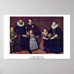 Family Portrait By Vos Cornelis De Print