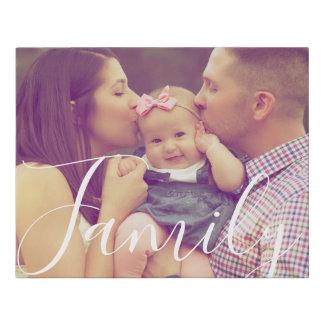 Family Portrait Canvas Photo Print and Text Option
