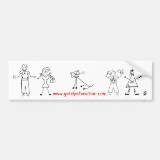 Family Portrait Car Bumper Sticker