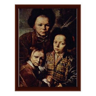 Family Portrait Detail By Schultz D. J. Daniel Postcard