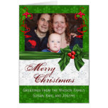 Family portrait Green Christmas Cards