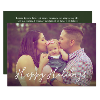 Family Portrait Holiday Photo Card