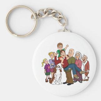 Family Portrait Keychain